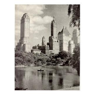 Alte Postkarte - Central Park, New York City