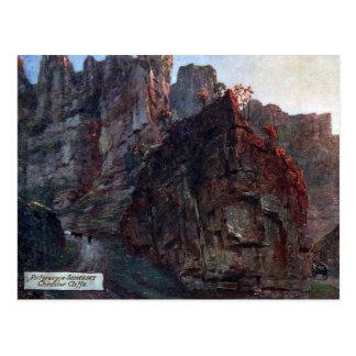 Alte Postkarte - Cheddarkäse-Klippen, Somerset