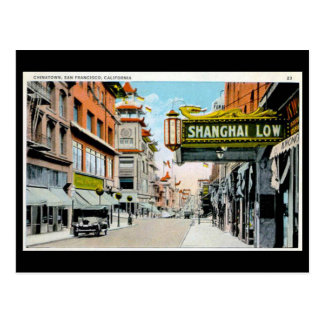 Alte Postkarte - Chinatown, San Francisco