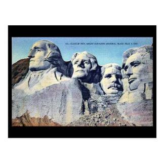 Alte Postkarte - der Mount Rushmore, South Dakota