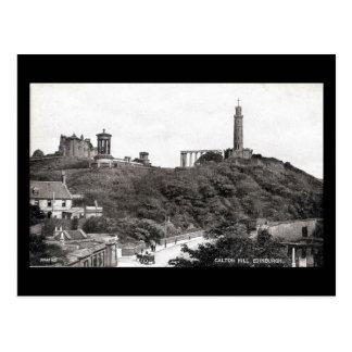 Alte Postkarte, Edinburgh, Calton Hügel im Jahre Postkarte