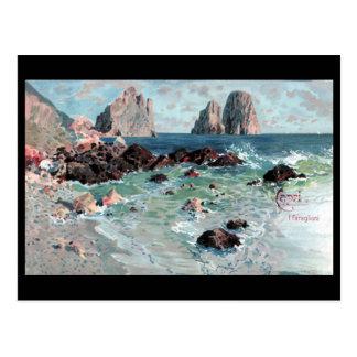 Alte Postkarte - Faraglioni, Capri, Italien