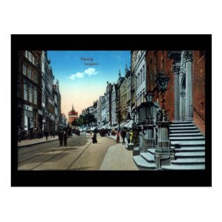 Alte Postkarte, Gdansk/Danzig, Langgasse Postkarte