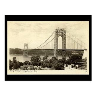 Alte Postkarte, George Washington-Brücke, New York Postkarte