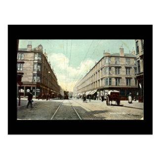 Alte Postkarte, Glasgow, Whiteinch Kreuz im Jahre Postkarte