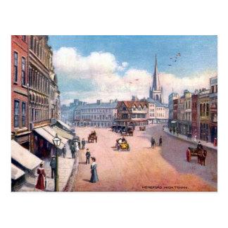 Alte Postkarte - hohe Stadt, Hereford