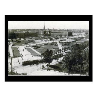 Alte Postkarte - Leningrad, Quadrat der Opfer von