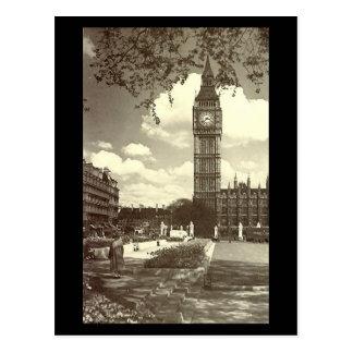 Alte Postkarte, London, Big Ben Postkarte