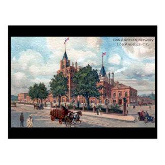 Alte Postkarte - Los Angeles-Brauerei, Kalifornien