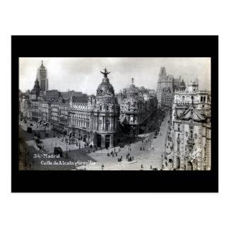 Alte Postkarte - Madrid