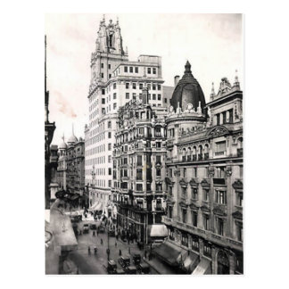 Alte Postkarte - Madrid, Spanien