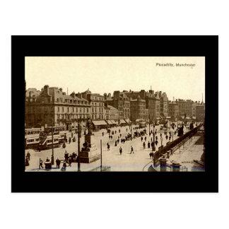 Alte Postkarte, Manchester, Piccadilly Postkarte