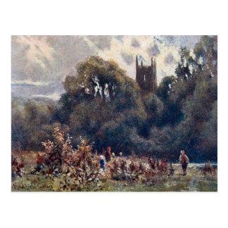 Alte Postkarte - Matlock-Kirche, Derbyshire