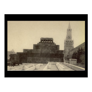Alte Postkarte - Moskau, Roter Platz, Lenin Grab