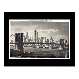 Alte Postkarte, New York City, Brooklyn-Brücke Postkarte
