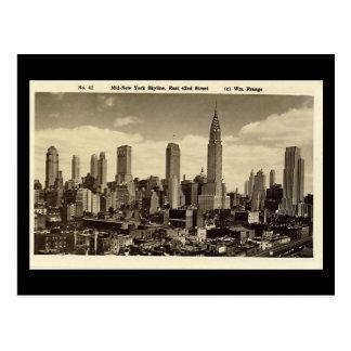 Alte Postkarte, New- York CitySkyline Postkarte