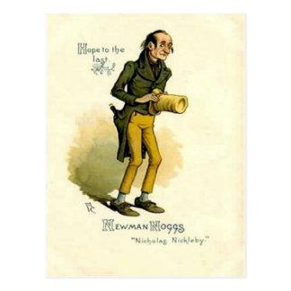 "Alte Postkarte - Newman Noggs - ""Nicholas Nickleby"