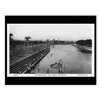 Alte Postkarte - Nottingham, Trent Brücke