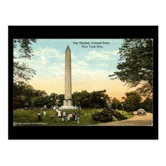 Alte Postkarte - Obelisk, Central Park, NYC, 1917
