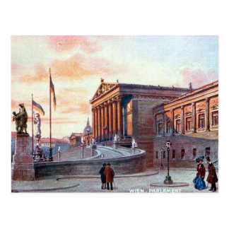 Alte Postkarte - Parlament, Wien