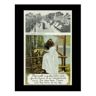 Alte Postkarte, Plymouth, Devon Postkarte