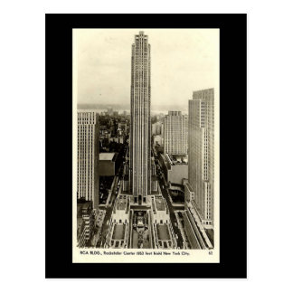 Alte Postkarte, Rockefeller-Mitte, New York City Postkarte