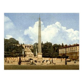 Alte Postkarte, Rom, Piazza Del Popolo Postkarte
