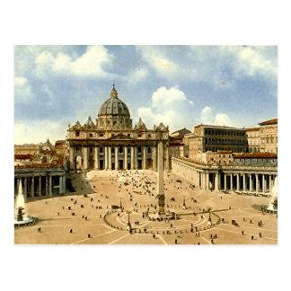 Alte Postkarte, Rom, St Peter und Vatikans
