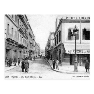 Alte Postkarte - Rue Heilig-Charles, Tunis