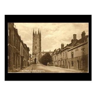 Alte Postkarte, St Mary Kirche, Warwick Postkarte