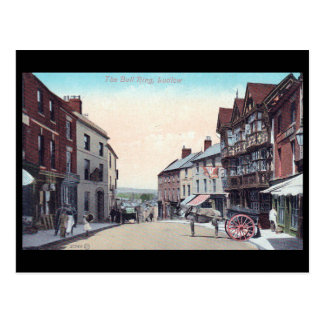 Alte Postkarte - Stier-Ring, Ludlow, Shropshire