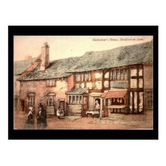Alte Postkarte - Stratford-nach-Avon, Shakespeares