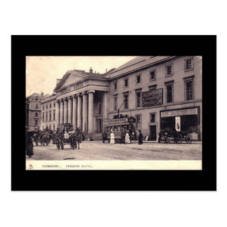 Alte Postkarte, Theater königlich, Plymouth, Devon Postkarte