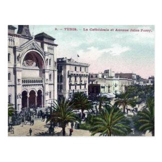 Alte Postkarte - Tunis, Kathedrale