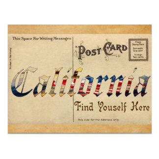 Alte Postkarte Vintager Blick-Kaliforniens