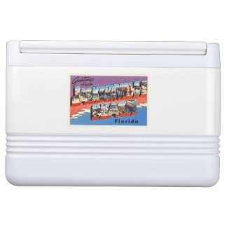 Alte Reise-Andenken Jacksonville-Strand-Floridas Igloo Kühlbox