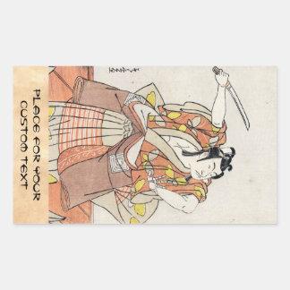 Alte Rolle coolen japanischen Vintagen ukiyo-e Kri Aufkleber