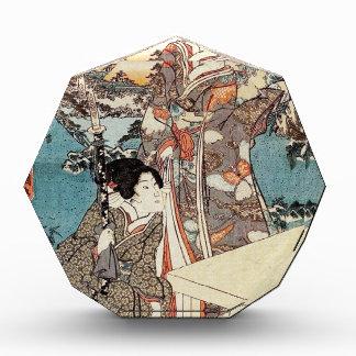 Alte Rolle japanischen Vintagen ukiyo-e Geisha Acryl Auszeichnung