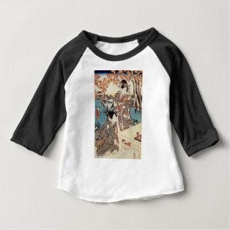 Alte Rolle japanischen Vintagen ukiyo-e Geisha Baby T-shirt