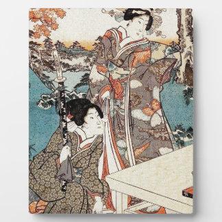 Alte Rolle japanischen Vintagen ukiyo-e Geisha Fotoplatte
