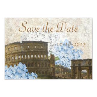 Alte Rom blaue Hydrangea-Save the Date Karte Einladungen