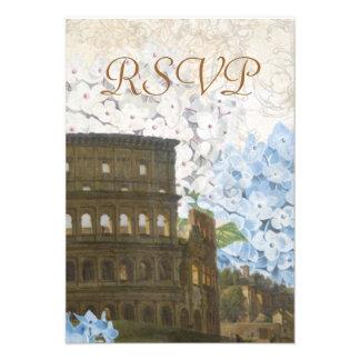 Alte Rom blaue Hydrangea UAWG Karte Personalisierte Einladungskarte