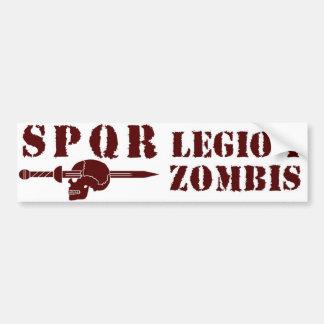 Alte römische 1. Zombie-Hunting-Legion Autoaufkleber