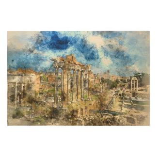 Alte römische Ruinen in Rom Italien Holzwanddeko