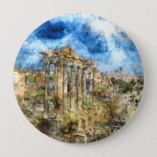 Alte römische Ruinen in Rom Italien Runder Button 10,2 Cm