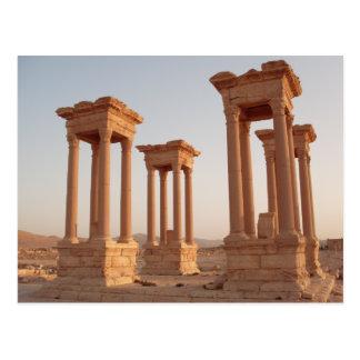 Alte römische Ruinen, Palmyra, Syrien Postkarte