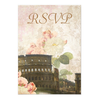 Alte rosa Rose Roms Vintage UAWG Karte Personalisierte Einladung