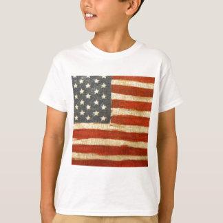 Alte Ruhm-amerikanische Flagge T-Shirt