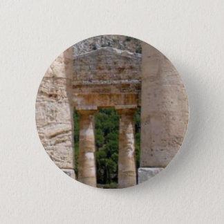 alte Ruinen des Steins Runder Button 5,7 Cm