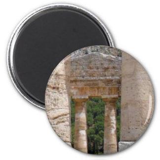 alte Ruinen des Steins Runder Magnet 5,7 Cm